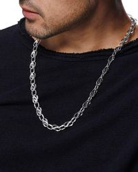 "John Hardy Metallic Men's Classic Chain Silver Link Necklace, 26"" for men"