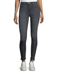 J Brand - Black 620 Mid-rise Skinny Jeans W/ Zip - Lyst