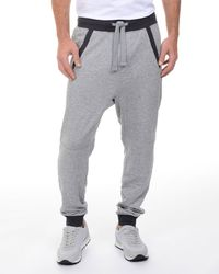 2xist - Gray French Terry Drop-inseam Sweatpants for Men - Lyst
