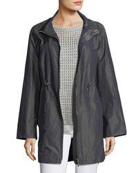 Lafayette 148 New York - Gray Nikolina Empirical Iridescent Tech Cloth Utility Jacket - Lyst