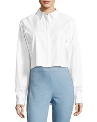 Rag & Bone - White Calder Reversible Long-sleeve Button-front Shirt - Lyst