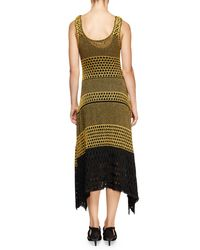 Proenza Schouler - Metallic Sleeveless Scoop-neck Colorblock Dress - Lyst