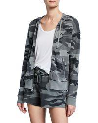 Splendid Multicolor Essential Active Camo Zip-front Hooded Track Jacket