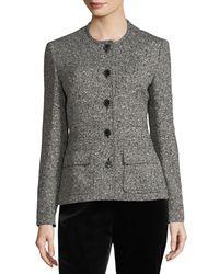 ESCADA - Black Tweed Safari Jacket - Lyst