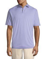 Peter Millar - Purple Featherweight Melange-stripe Polo Shirt for Men - Lyst