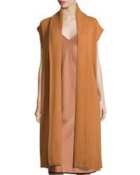 DKNY - Multicolor Long Cashmere Shawl-collar Vest - Lyst