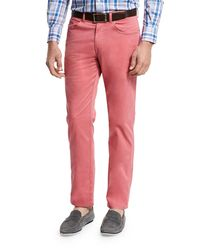 Peter Millar   Red Crown Five-pocket Stretch Sateen Pants for Men   Lyst