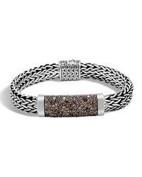 John Hardy - Metallic Men's Large Lava Smoky Quartz Station Bracelet for Men - Lyst