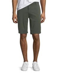 7 For All Mankind Green Men's Stretch Chino Shorts for men