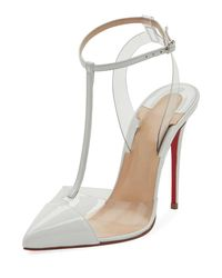 Christian Louboutin Multicolor Nosy T-strap Red Sole Pumps