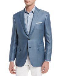 Brioni - Blue Tic Two-button Silk-blend Blazer for Men - Lyst