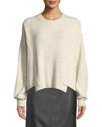 Vince Multicolor Paneled Crewneck Pullover Sweater