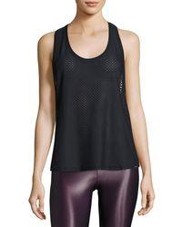 Koral Activewear - Black Runout Athletic Mesh Tank - Lyst