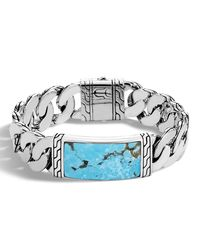John Hardy - Multicolor Men's Classic Chain Sterling Silver & Turquoise Id Bracelet for Men - Lyst