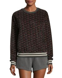 The Upside - Black Magical Eye Velour Crewneck Sweatshirt - Lyst