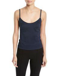 Jenny Packham Blue Scoop-neck Double-strap Camisole