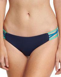 L*Space - Blue Low-down Reversible Swim Bikini Bottom - Lyst