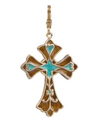 Jay Strongwater - Multicolor Cross Pendant - Lyst