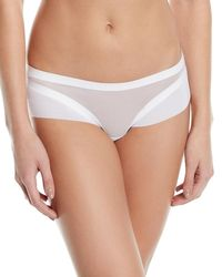 LIVY White Ny Day Tulle-trim Shorty Briefs