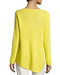 Eileen Fisher - Yellow Long-sleeve Organic Links Tunic - Lyst