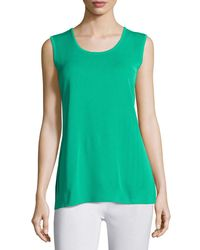 Misook - Green Scoop-neck Knit Tank - Lyst