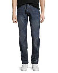 PRPS Blue Demon Distressed Slim-straight Jeans for men