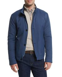 Peter Millar Mayfair Nylon Bomber Jacket Blue for men