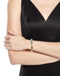 Akola Blue Bone & Horn Stretch Bracelet