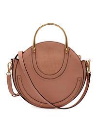 Chloé - White Pixie Medium Round Shoulder Bag - Lyst