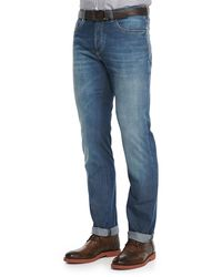 Brunello Cucinelli - Blue Lightweight Medium Wash Jeans for Men - Lyst