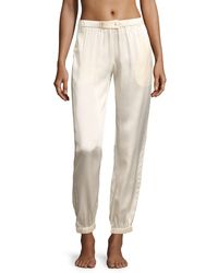 Morgan Lane - Multicolor Camille Stardust Silk Lounge Pants - Lyst