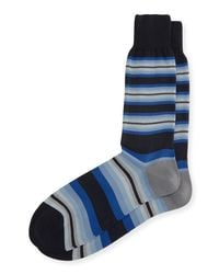 Paul Smith - Tiger-stripe Socks With Multicolor Band for Men - Lyst