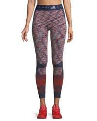 Adidas By Stella McCartney - Multicolor Seamless Space-dye Yoga Tights - Lyst