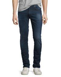 Nudie Jeans - Blue Lean Dean Deep Sparkle Skinny-leg Jeans for Men - Lyst