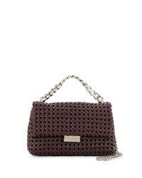Stella McCartney | Multicolor Bex Small Woven Flap Shoulder Bag | Lyst