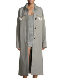 Alexander Wang Multicolor Coat Check Raglan Sleeve Wes