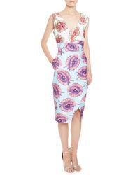 Altuzarra - Blue Elida Floral Sleeveless Sheath Dress - Lyst