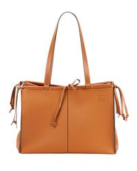 Loewe Brown Cushion Soft Grained Calf Leather Tote Bag