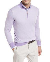 Peter Millar Purple Crown Soft Birdseye Sweater for men