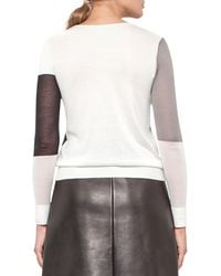 Akris - Multicolor Patchwork Knit Pullover Sweater - Lyst