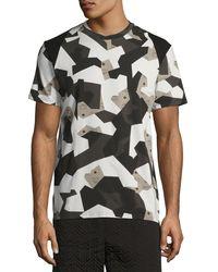 MCM - Gray X Cr Collection Splinter Camo Visetos T-shirt for Men - Lyst