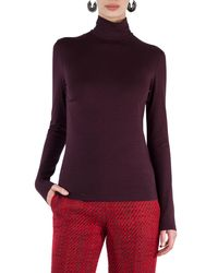 Akris Punto - Purple Stretch-modal Turtleneck Sweater - Lyst