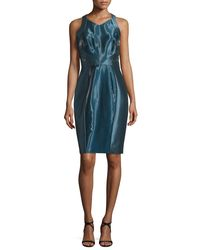 THEIA - Blue Sleeveless Liquid-glass Cocktail Dress - Lyst