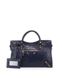 Balenciaga - Blue Giant 12 City Lambskin Satchel Bag - Lyst