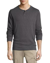 Theory Gray Gaskell Jersey Henley T-shirt for men