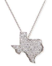 Roberto Coin Metallic 18k White Gold Diamond Texas Necklace