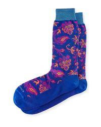 Etro - Blue Short Paisley Socks for Men - Lyst