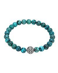 John Hardy - Blue Turquoise Large Beaded Bracelet - Lyst