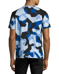 MCM | Blue X Cr Collection Splinter Camo Visetos T-shirt for Men | Lyst