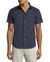 Theory Blue Sylvain Short-sleeve Shirt for men